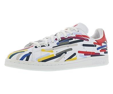 san francisco 99095 c05a6 Amazon.com | adidas Stan Smith - B24704 - Color White-Yellow ...