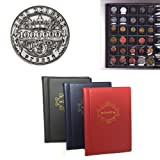 Unmengii Mini 3 Colors Collection Book 10 Pages 120 Pockets Russian Front Cover Coin Albums Currency Holder