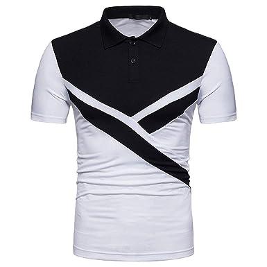Hombre Camisa De Polo para De Verano De Manga Corta Chic Hombres ...