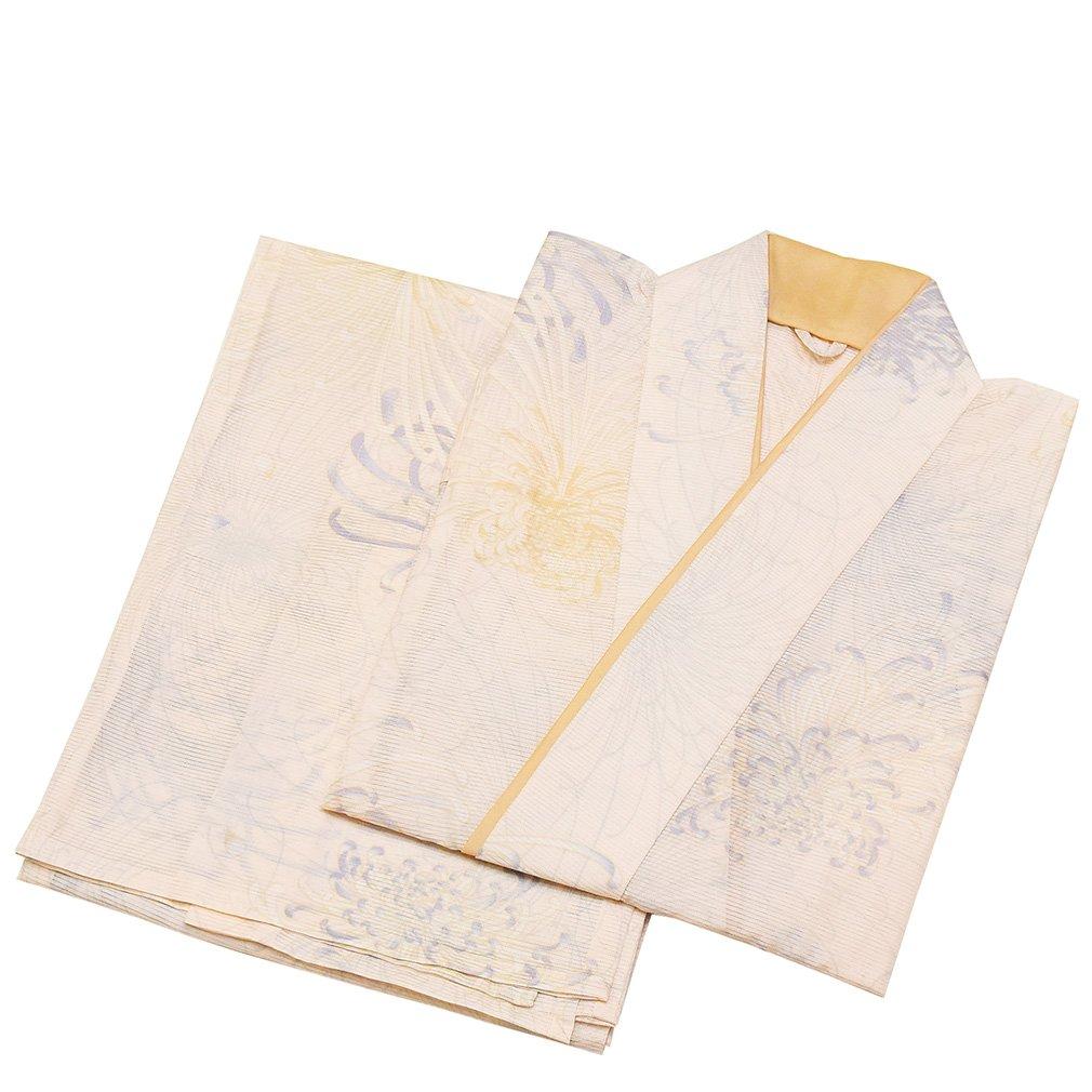 和ごころきもの屋 夏物【絽 二部式着物】洗える着物【Mサイズ/Lサイズ】制服 小紋 普段着 二部式 着物 nibu337 B07D5T9Q5Z Lサイズ