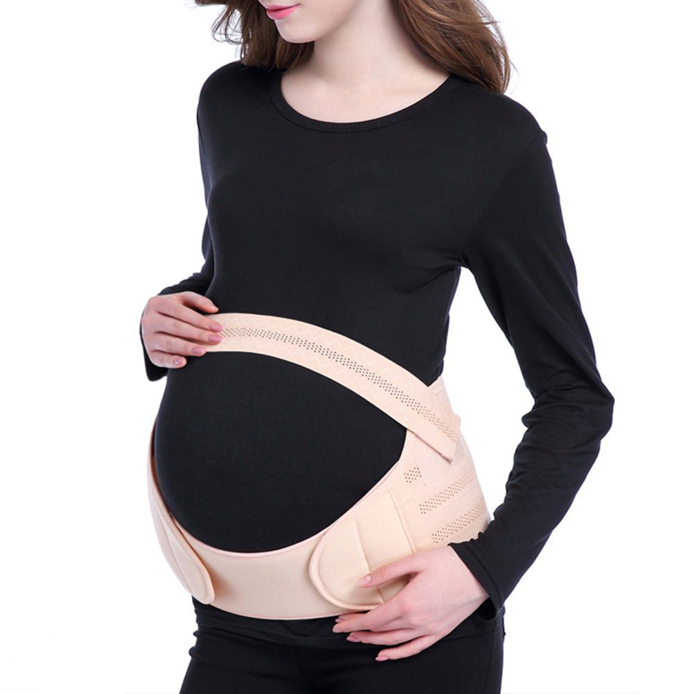Zhhlinyuan Mujeres Embarazadas Maternity Support Belt Waist Back Abdomen Soft Belly Band