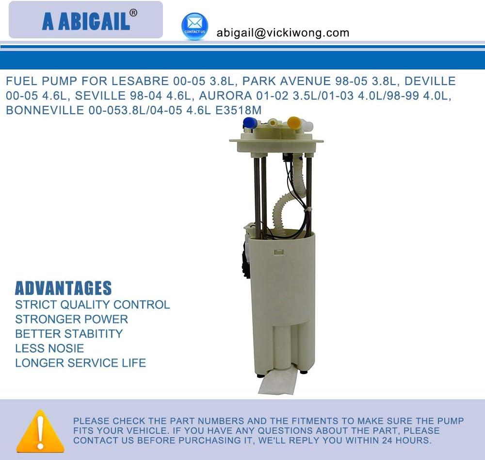 Deville 00-05 4.6L Park Avenue 98-05 3.8L Seville 98-04 4.6L Bonneville 00-053.8L// 04-05 4.6L compatible with E3518M Fuel Pump A3518M for Lesabre 00-05 3.8L