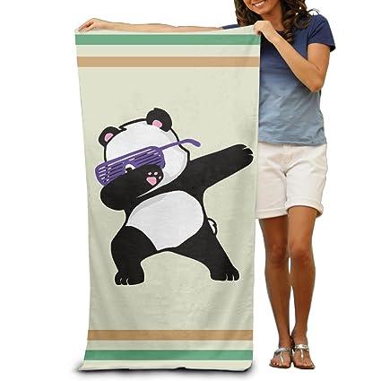 Hip Hop gafas Panda Toallas de baño toallas de playa de toallitas adultos suave absorbente