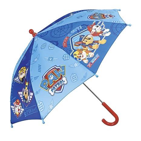 Paraguas Paw Patrol de Niño - con Estampado Marshall Chase y Rubble - Paraguas Resistente y