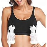 Lupantte Hands Free Pumping Bra, Breast Pump Bra, Adjustable Breastfeeding Nursing Bra for Holding Breast Pumps Like Spectra,