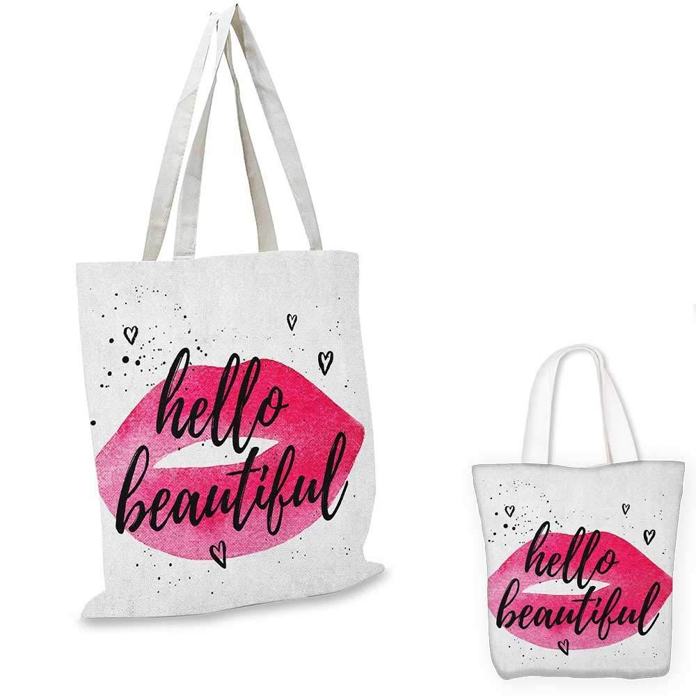 HelloHandレタリング引用句 レトロな花柄スタイルの背景 水彩色のつぼみ ピンク ブラック ホワイト 12