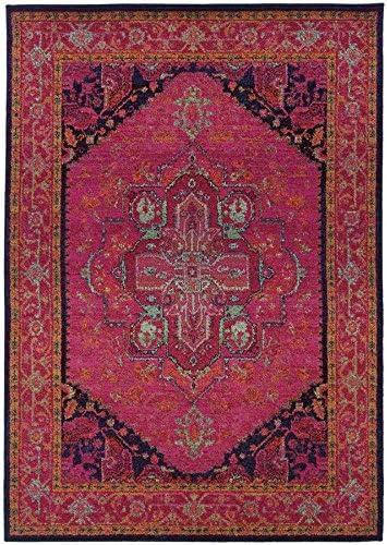 Oriental Weavers 1332S Kaleidoscope Area Rug, 9 9 x 12 2 , Pink Blue