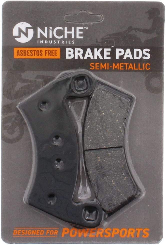 NICHE Front Right Brake Caliper Pads For 2009-2017 Polaris General Ranger RZR Crew /& XP 4 570 Replaces 1912256
