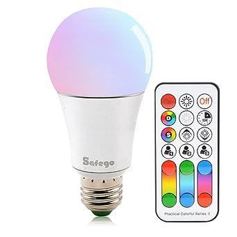 E27 RGBW LED Lampen Farbwechsel Lampe Mit Fernbedienung Dimmbare Glühlampe  60W Glühlampenäquivalent 120 Farben Für Daheim