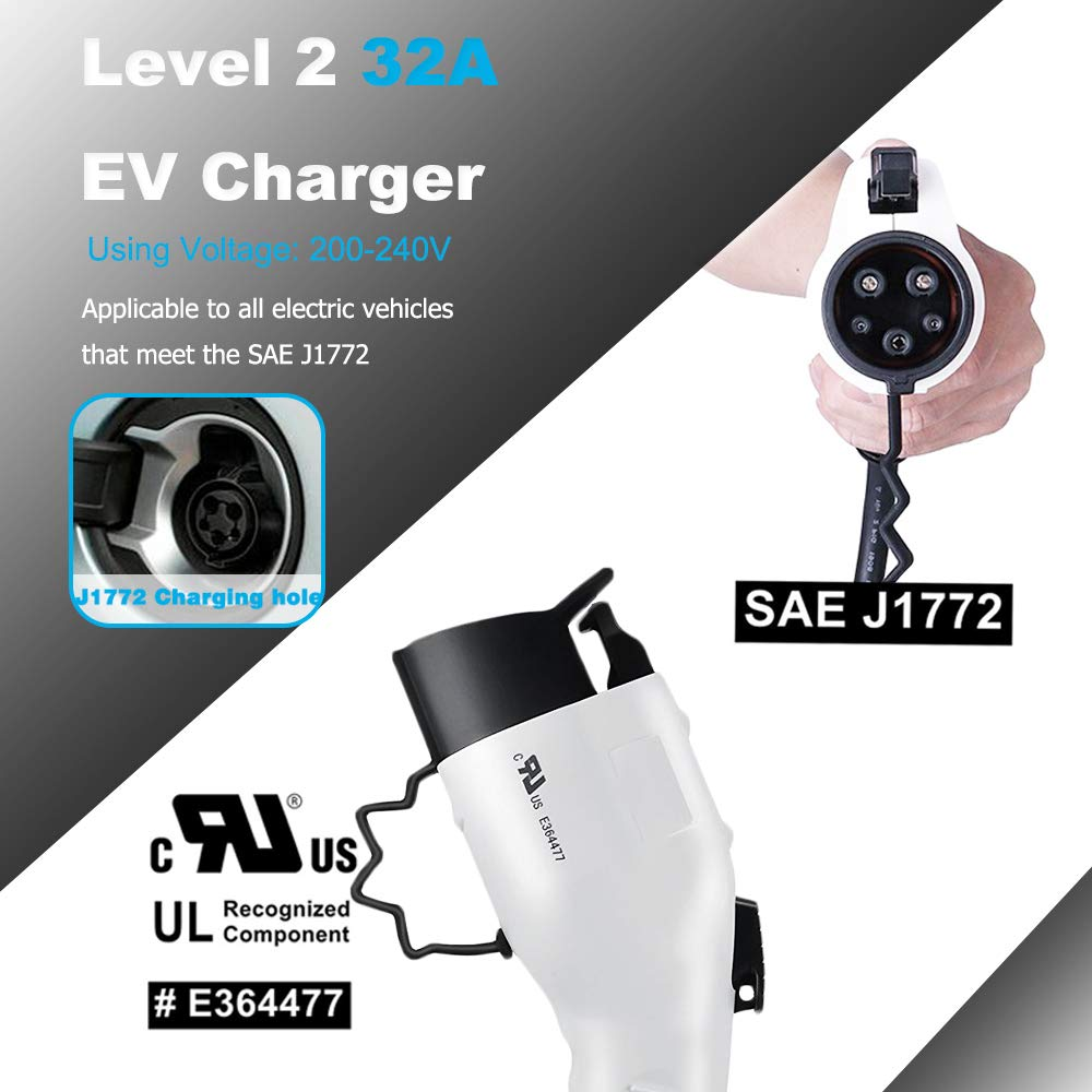 Zencar 32A EV Charger Level 2, NEMA14-50 16ft 220V-240V Portable EV Charging Station, Electric Vehicle Charger Compatible with Chevy Volt, Nissan Leaf, Fiat, Ford Fusion by Zencar (Image #4)