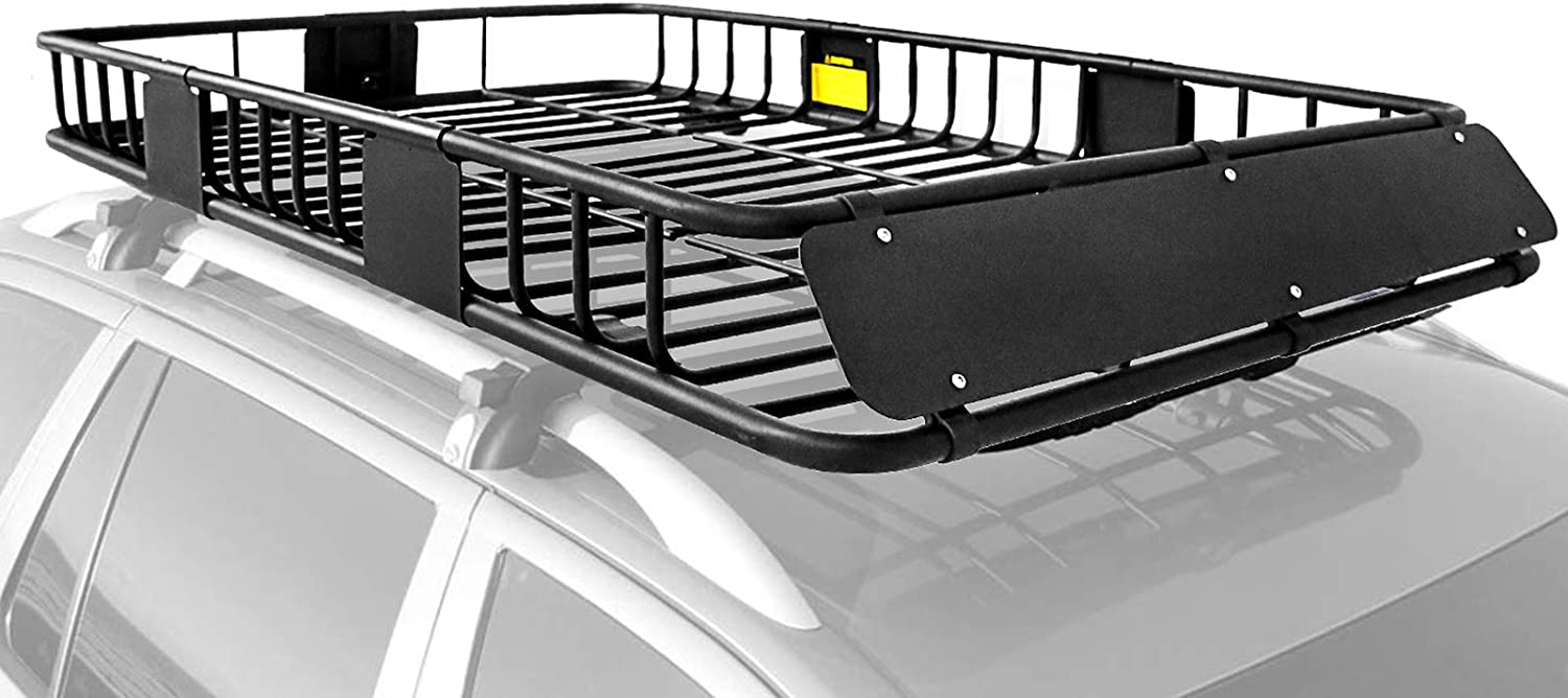 xcar roof rack carrier basket rooftop cargo carrier with extension black car top luggage holder 64 x 39 x 6 universal for suv cars