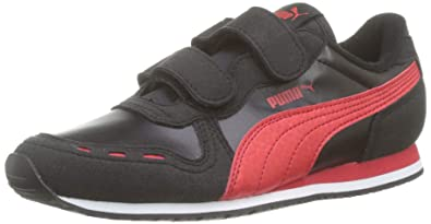 7e1fee2bb83 Puma Cabana Racer SL V PS, Unisex-Kinder Sneakers, Schwarz (Puma Black