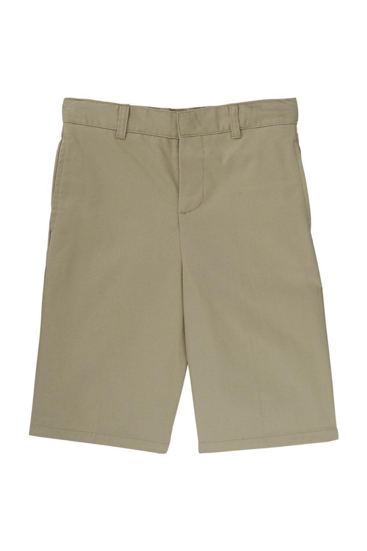 French Toast Big Boys' Basic Flat-Front Short with Adjustable Waist, Khaki, 16