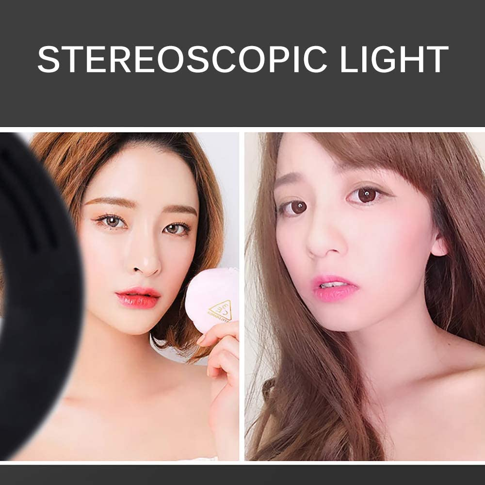3dsll0 LED Ring Light,Makeup Ring Light with LCD Display Controller Video USB Photography Ring Shape Fill Light for Phone Video Shooting,YouTube,Portrait,Selfie