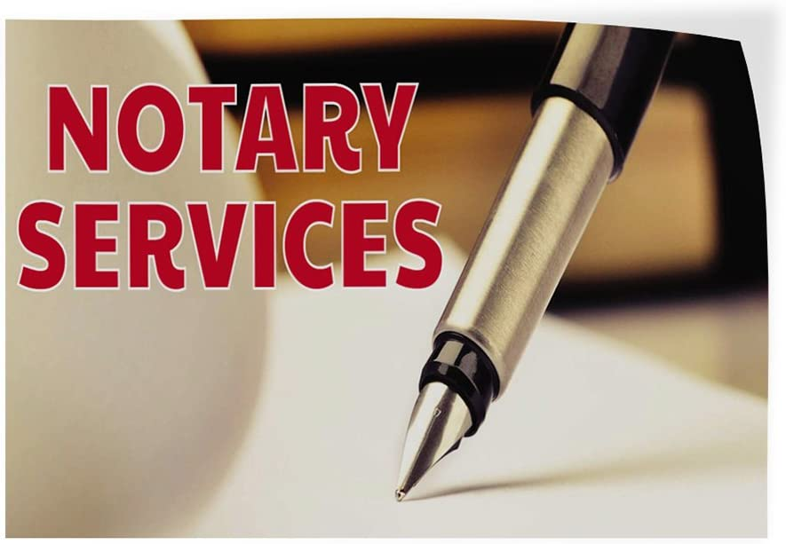 Set of 5 Decal Sticker Multiple Sizes Notary Services Business Notary Services Outdoor Store Sign White 48inx32in