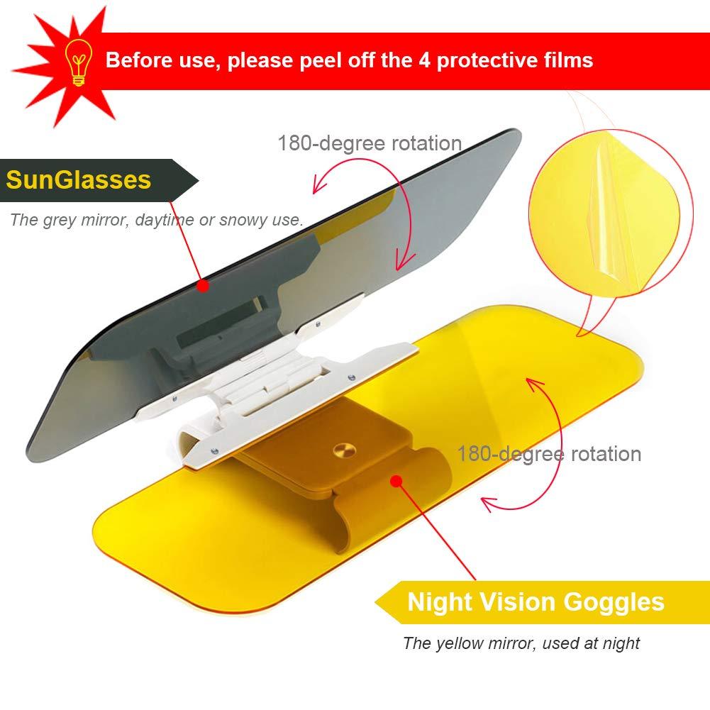 Car Sun Visor Extender Anti-Glare Blocker Night Driving Glasses Anti-Dazzle Polarized Sun visor extender for cars 2019 Upgraded Sun Visor for Car Windshield