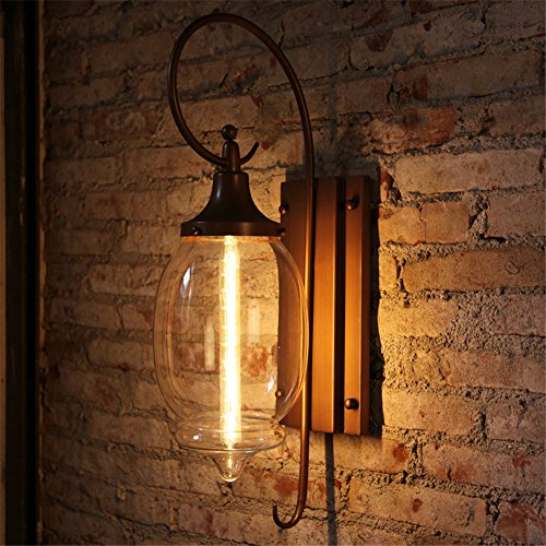 JhyQzyzqj Wall Sconce Wall lights Living room aisle bedroom bedside lamp staircase balcony room outdoor American simple Outdoor Wall lights room lamp and large glass lamps -