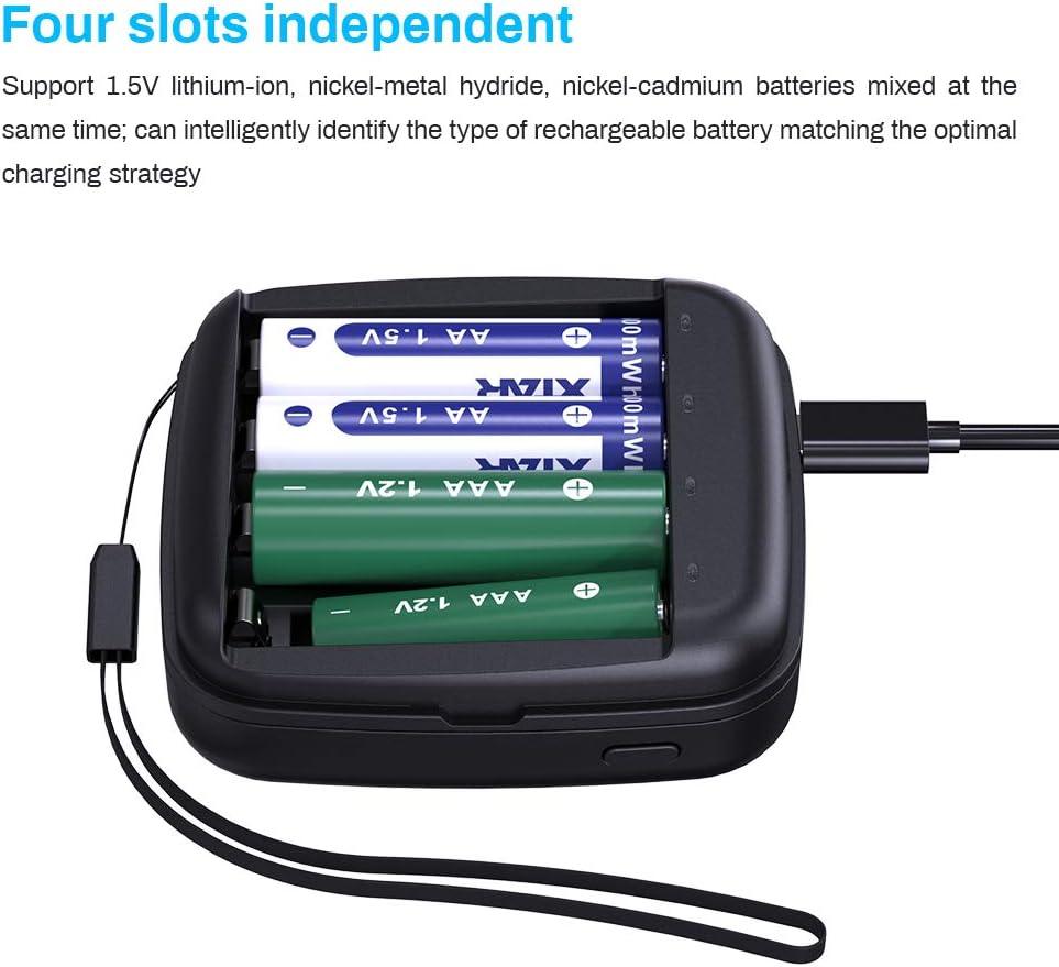 Xtar MC4/4/Baie de Li-ION Chargeur USB 5/V//2/A 26650/Noir avec Alimentation 10440