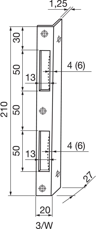 /Ángulo de secotec Cerradero /ÖNORM 10/mm redondo SB de 1/BL10 v105/a024s024