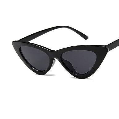 9ae2cebb2c8c COOCOl Ladies cute sexy retro cat eye sunglasses women small sunglasses  black and red UV400 triangle