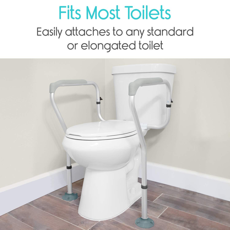Vive Toilet Rail - Bathroom Safety Frame - Medical Railing Helper ...