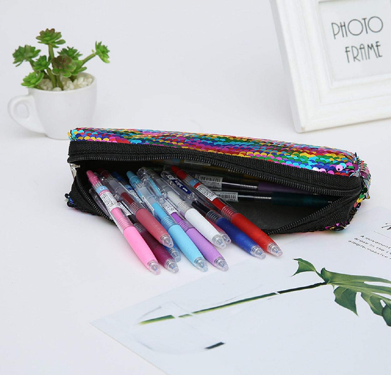 Boddenly Pencil Bags - Pencil Pouch Organizers for Home and Office, Ideal for Students, Travel Cosmetic Makeup Bag for Women, 6 Designs by Boddenly (Image #2)