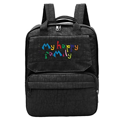 Kuswaq My Happy Family Women's Fashion Backpack Laptop Travel Shoulder Bag For Adult Girls
