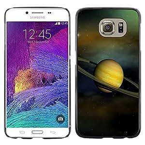 Be Good Phone Accessory // Dura Cáscara cubierta Protectora Caso Carcasa Funda de Protección para Samsung Galaxy S6 SM-G920 // Saturn Rings Solar System Planet Cosmos