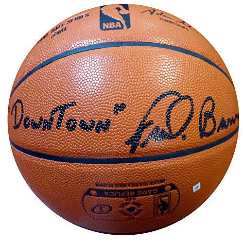 Downtown Fred Brown Signed Spalding I/O Basketball Seattle Sonics - Authentication Authentic Autograph - Basketball - Shops Seattle Downtown