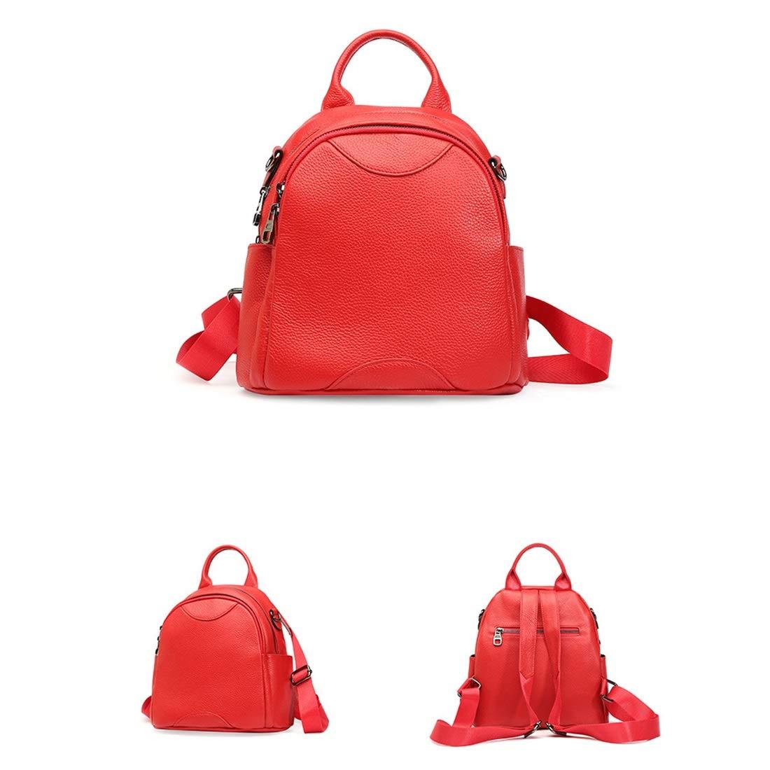Ryggsäck kvinnor ryggsäck handväska vattentät oxfordtyg dam resväska skolväskor stöldsäker ryggsäck axelväskor laptopryggsäck (färg: Lila) röd