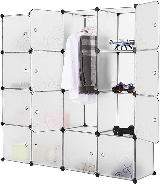 Amazon Com Langria Modular Closet Organizer Plastic Cabinet 16