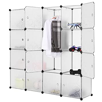 LANGRIA Portable Clothes Closet Wardrobe Freestanding Storage Organizer with doors  large space and sturdy construction