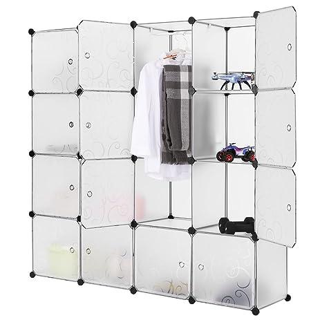 langria multi use diy 16 cube organizer bookcase storage organizer