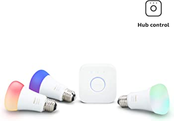 Philips Hue White & Color Ambiance Smart LED Light Bulb Starter Kit