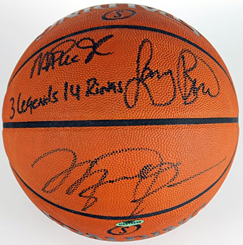 Michael Jordan, Larry Bird, Magic Johnson Signed Basketball PSA UDA & Bird Holo