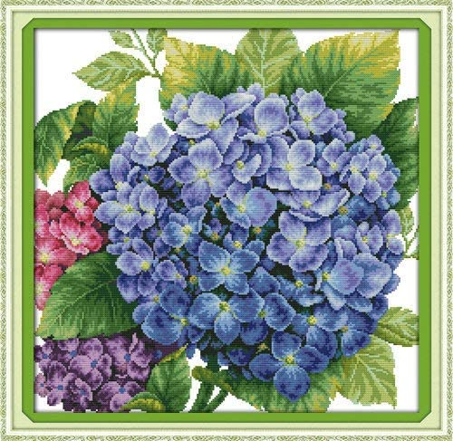 Joy Sunday Cross Stitch Kits,Flower Style,Pincushion ,11CT Counted 3 61cm/×61cm or 23.79/×23.79
