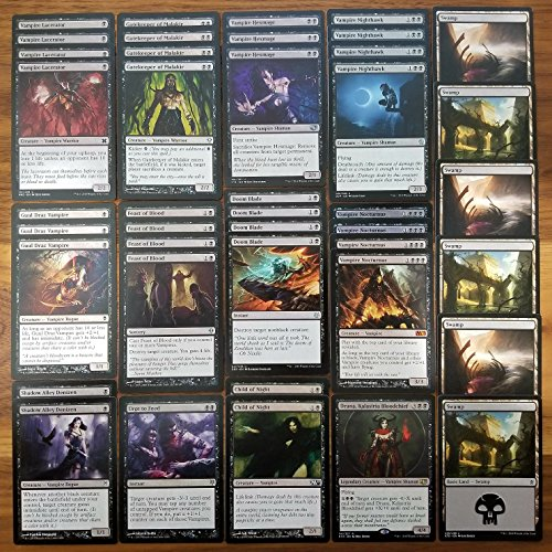 Magic: The Gathering Vampire Black Modern Legal Custom Magic Deck by Dan of the Many