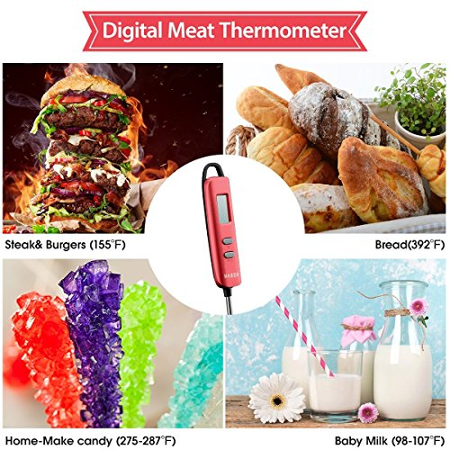 Meat Thermometer, Habor Instant Read Thermometer Cooking Thermometer Candy Thermometer with Super Long Probe for Kitchen Cooking BBQ Grill Smoker Meat Fry Food Milk Yogurt by Habor (Image #2)
