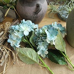 YLCOYO Flowers, Artificial Silk Fake Flowers Peony Floral Wedding Bouquet Bridal Hydrangea Decor (C) 4