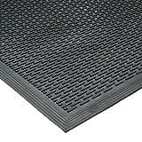 """Rubber-Cal 03-239-LI """"DuraScraper Linear"""" Commercial Rubber Entrance Door Mat, 3/8"""" Thick x 36"""" x 60"""", Black"""