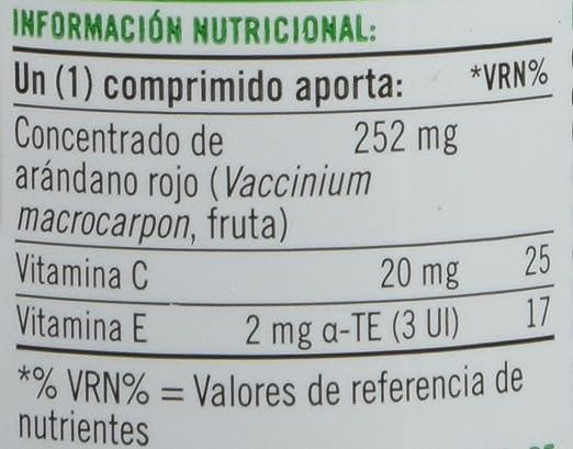 Natures Bounty, Concentrado de Arándano Rojo con Vitaminas C y E, 60 Comprimidos