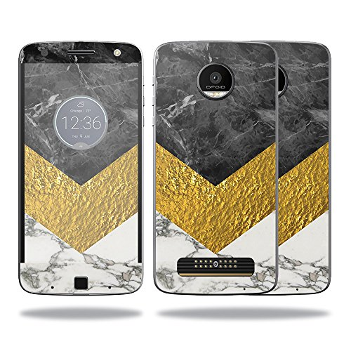 Price comparison product image Skin For Motorola Moto Z Force Case – Modern Marble | MightySkins Protective, Durable, and Unique Vinyl Decal wrap cover | Easy To Apply, Remove, and Change Styles | Made in the USA