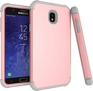Samsung Galaxy J7 2018/ Galaxy J7 V 2nd Gen Case/Galaxy J7 Refine Case/Galaxy J7 Aero/J7 Star/J7 Top/J7 Crown/J7 Aura/J7 Eon/J737V/J737T Case,ZERMU Shockproof Protection Rugged Bumper Case for J7 2018
