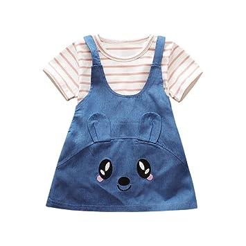 Subfamilia, ropa para bebé, bebé, niñas, a rayas, gato, impresión ...