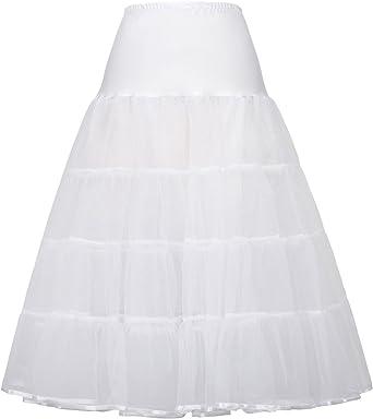 GRACE KARIN Falda Interior Larga Enaguas 50s para Vestido de Novia ...