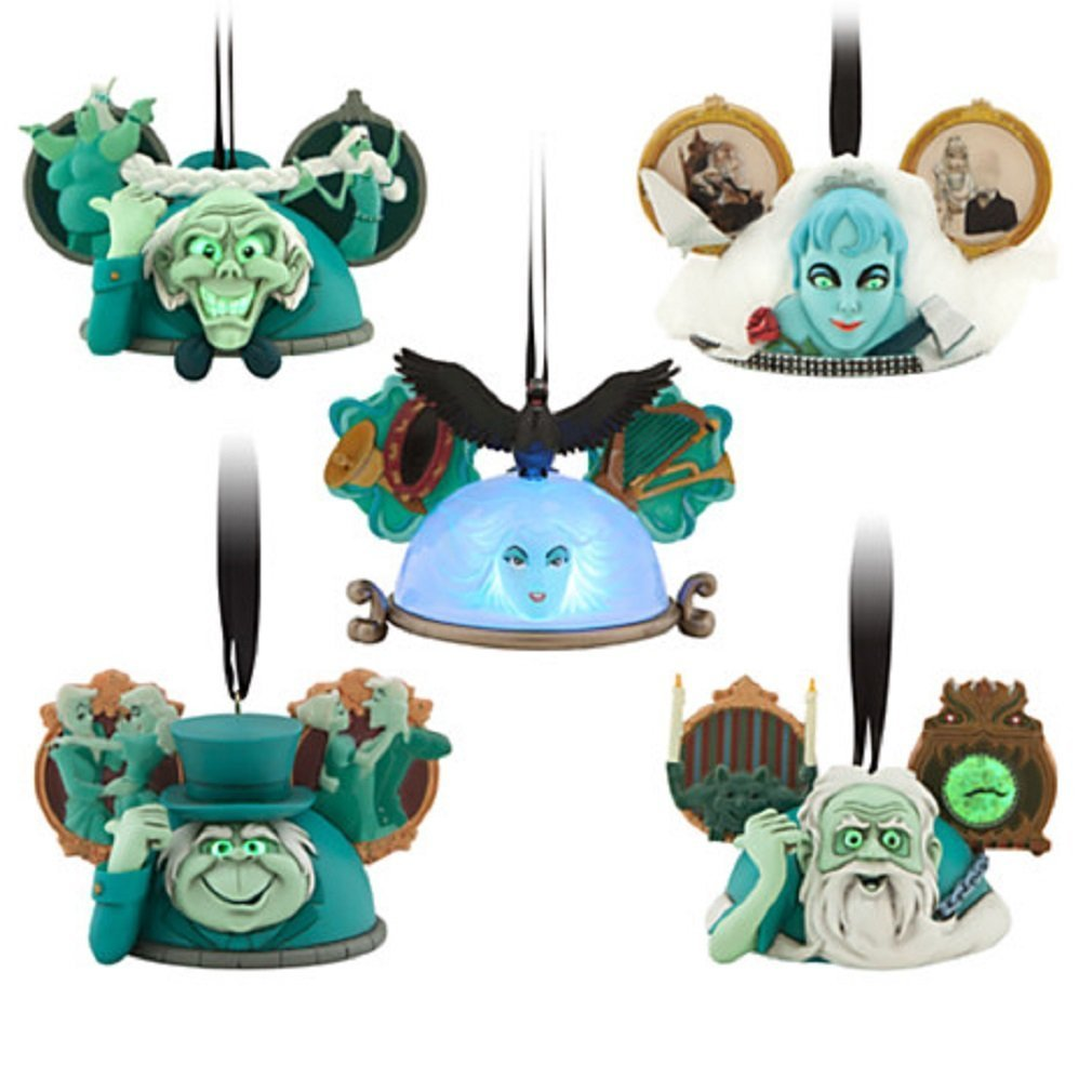 Disney 2014 the Haunted Mansion Ear Hat Ornament Set - Limited Edition 2000