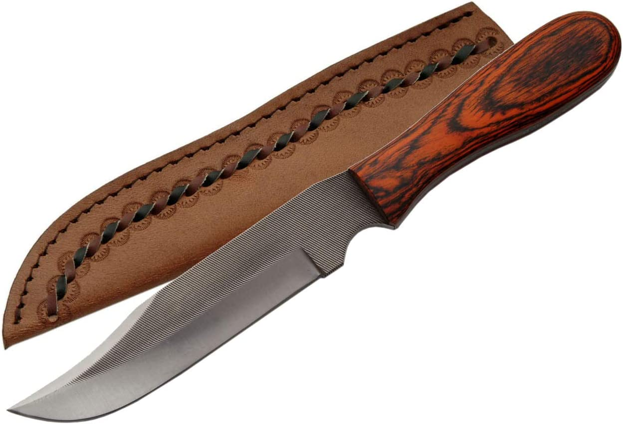 SZCO Supplies SM0018 Real File Sawmill Skinning Knife, Large