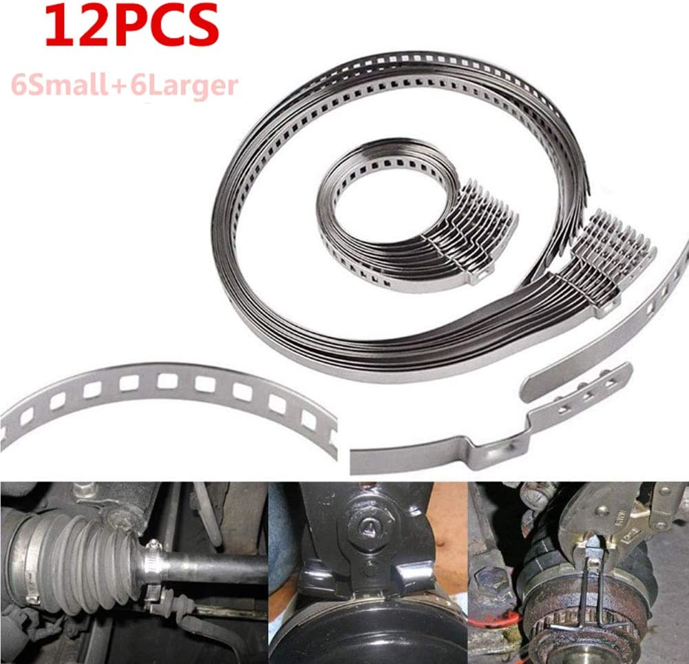 Universal Adjustable Stainless Steel Clamp Motoparty CV Boot Clamps 14pcs Drive Shaft Joint Kit