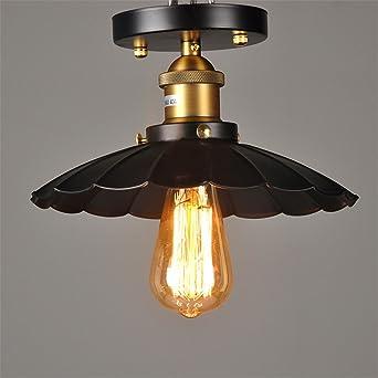 Loft Vintage Retro redonda Lámpara de techo Lámpara de techo ...