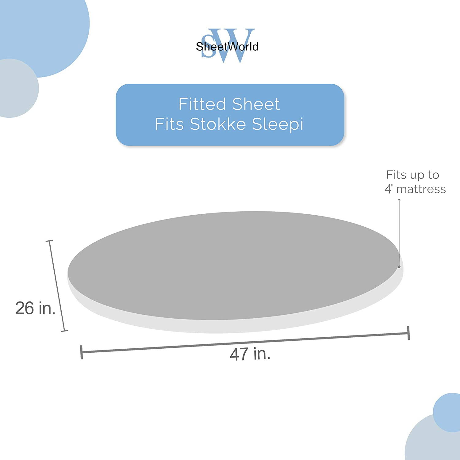 - Grey Floral Stems SheetWorld Fitted Oval Crib Sheet Made In USA Stokke Sleepi